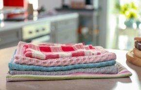 Как отстирать кухонные полотенца в домашних условиях